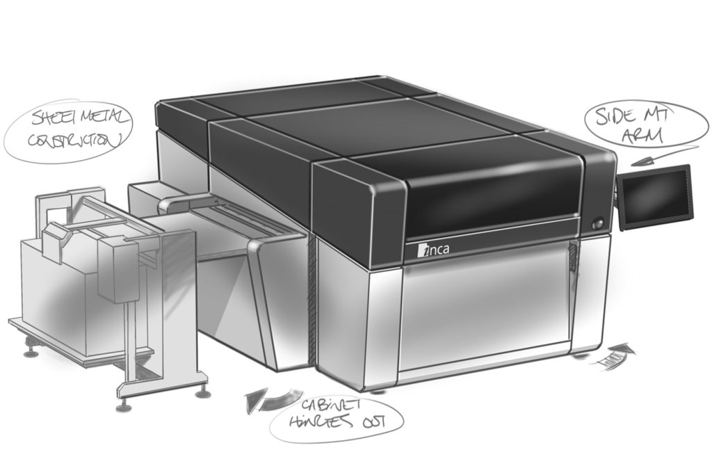Printer-Design-Development-Sketch